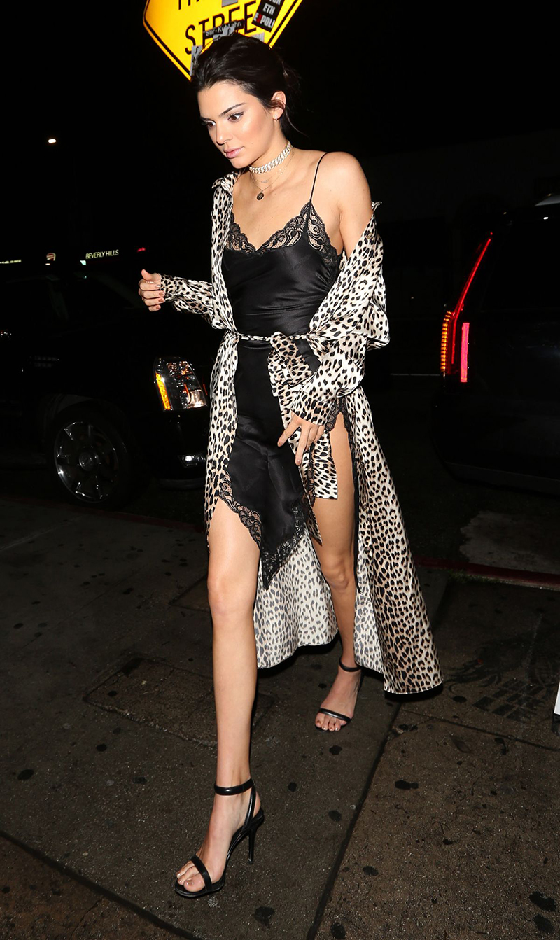 Kendall Jenner at Nice Guy in West Hollywood december 31, 2016 for New Year's Eve