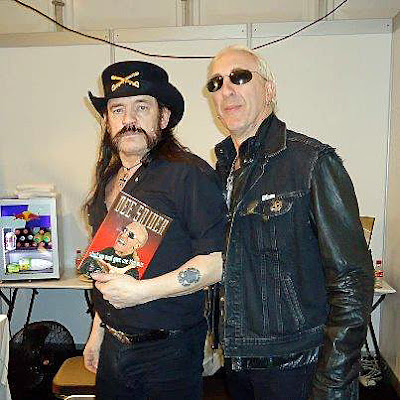"Lemmy & Dee... and Lemmy is holding Dee's book...""Shut up and give me the mic""... too fuckin' cool!! And the book was really a great read by the way!"