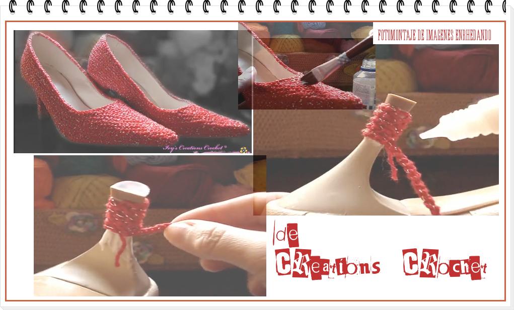 zapatos, customizar, croché, ganchillo, tutoriales, vídeos