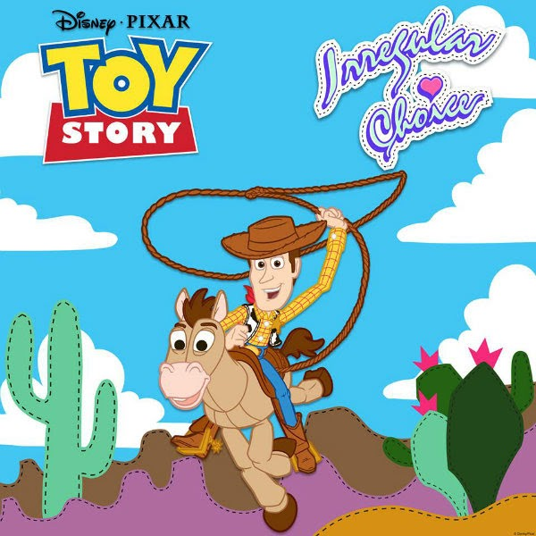 Woody and Bullseye from Disney Toy Story with Irregular Choice branding