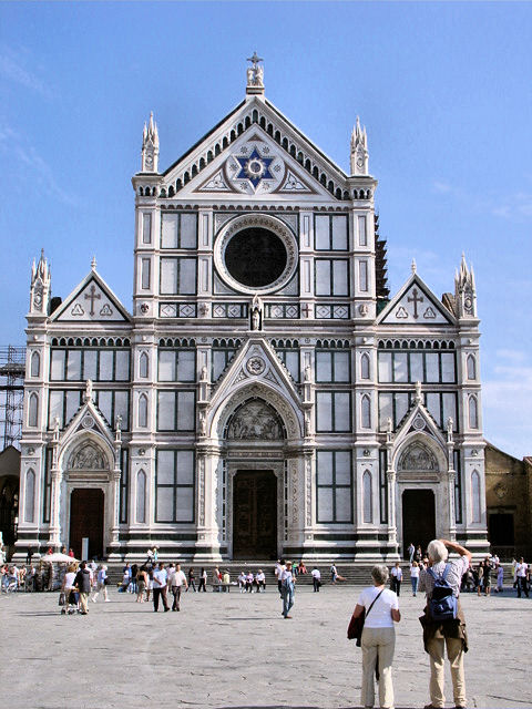 Santa Croce in Florence—the final resting place of Michelangelo.