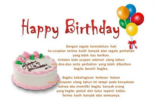 Ucapan Selamat Ulang Tahun Untuk Teman, Sahabat Perempuan, Lucu, Islami, Pacar, Anak, Suami, Istri, Ibu, Ayah, Pernikahan