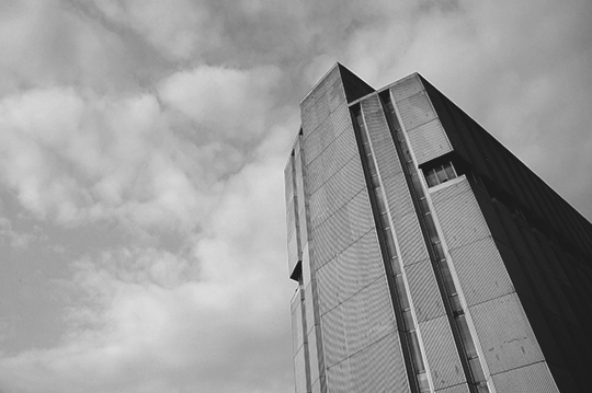 black and white photography, urban photography, concrete, brutalist, British Brutalism, architecture, 1970s buildings,