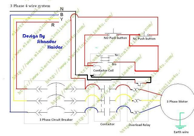 dol starter wiring diagram 3 phase