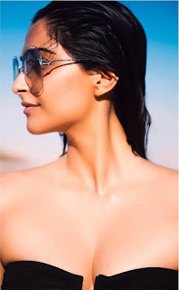 Sonam Kapoor Super Sexy Hot Boobs Cleavages in Bikni from her Instagram