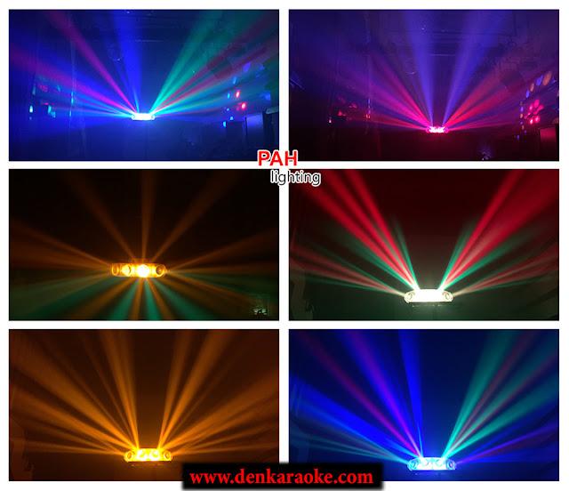 Đèn phòng hát karaoke Xekoro với 4 màu LED sẽ tạo cho bạn không gian đầy màu sắc ứng tượng