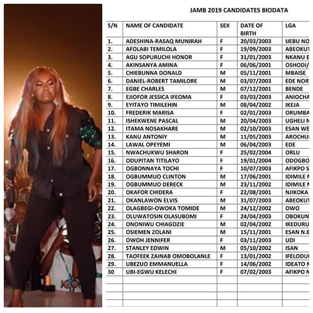 Nigerian Singer Niniola, Provides 30 Jamb Forms For Students.