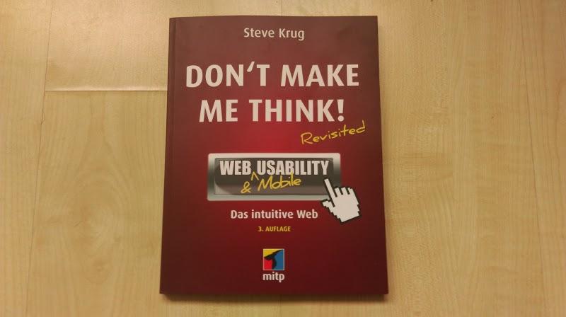 """Buchrezension zu """"Don't make me think"""" von Steve Krug."""