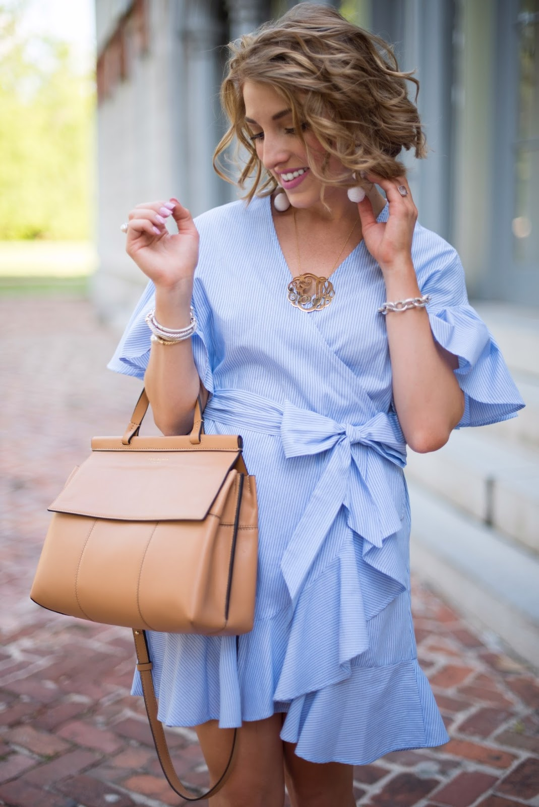 Ruffle Wrap Dress - Click through to see more on Something Delightful Blog