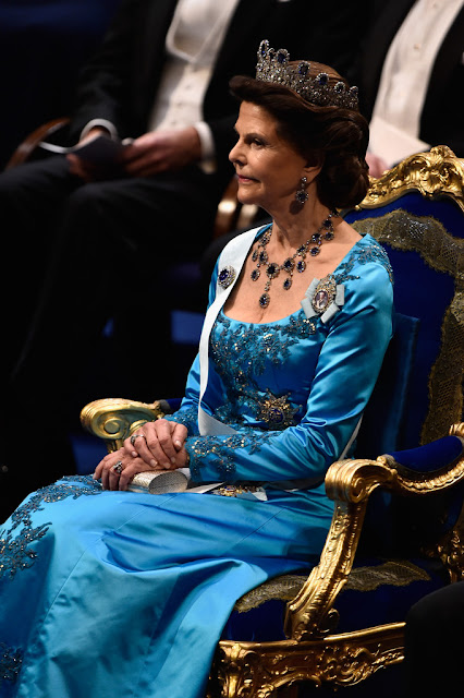 Queen Silvia of Sweden attends the Nobel Prize Banquet 2014