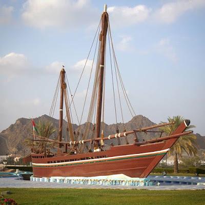 Barco Sohar en Muscat, Omán