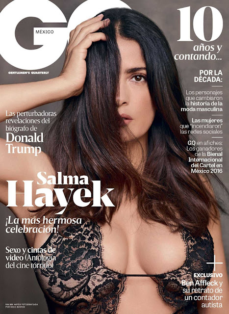 Salma Hayek, couverture GQ - Novembre 2016
