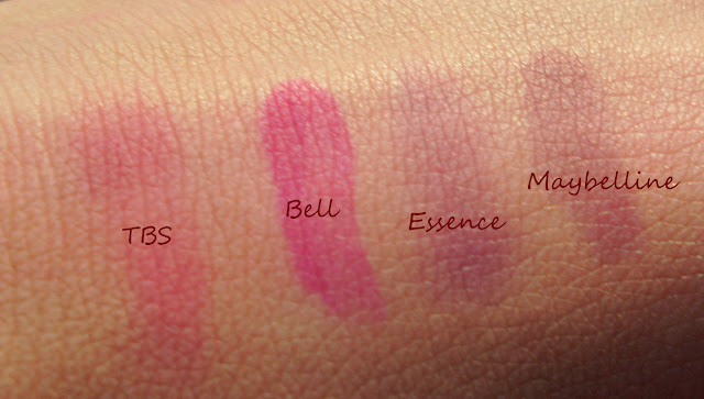 Permanent Make-up Lip Tint od Bell, The Body Shop, Lip & Cheek Stain,  Essence, Vampire`s Love, Lipstain, Maybelline, SuperStay 10H Tint Gloss