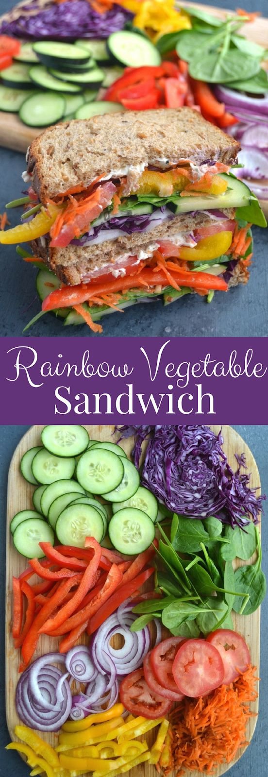 Rainbow Vegetable Sandwich