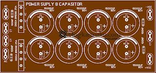 dc power supply 8 Elco Untuk Power Amplifire Lapangan