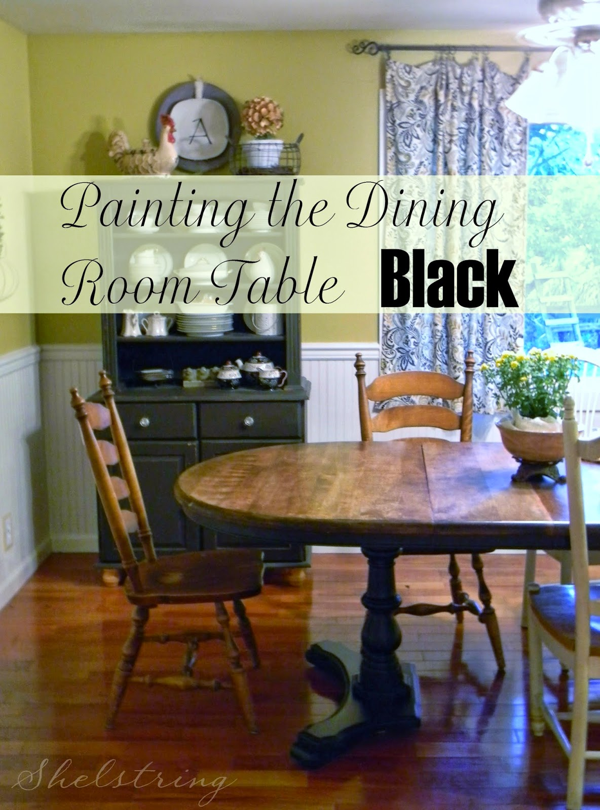 shelstring blog painting the dining room table. Black Bedroom Furniture Sets. Home Design Ideas