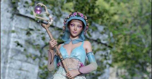 3d Models Art Zone - Woodland Magic for Genesis 3 Female(s)