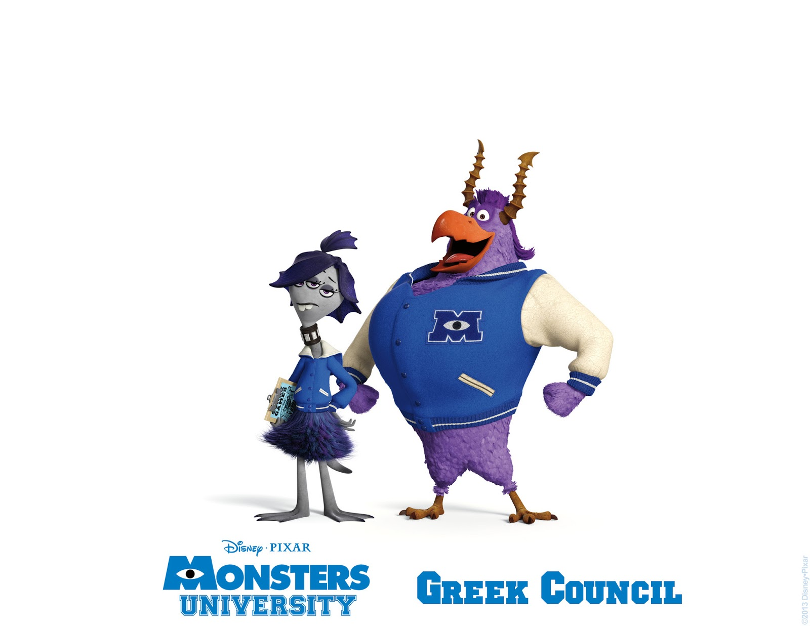 Sasaki Time Monsters University Greek Council Poster