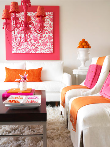 Decorating with Pink Orange {Inspired by Beauty ...