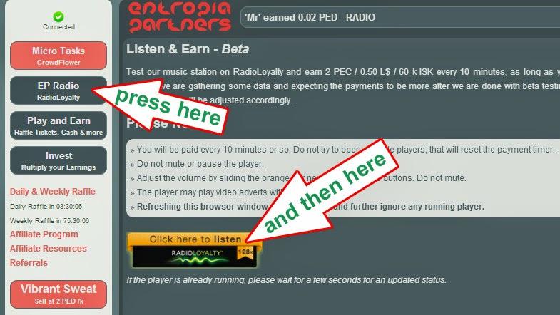 Earn free Entropia PEDs: Listen radio and earn Entropia PEDs