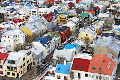 Tipiche case colorate islandesi