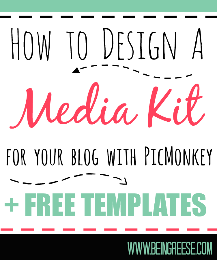 How to design a free media kit for your blog premade for Online media kit template