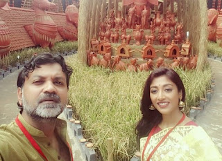 Puja Selfie. Srijit and Paoli