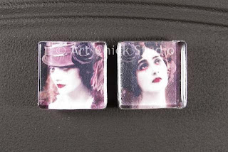 Flower Ladies Glass Tile Magnets