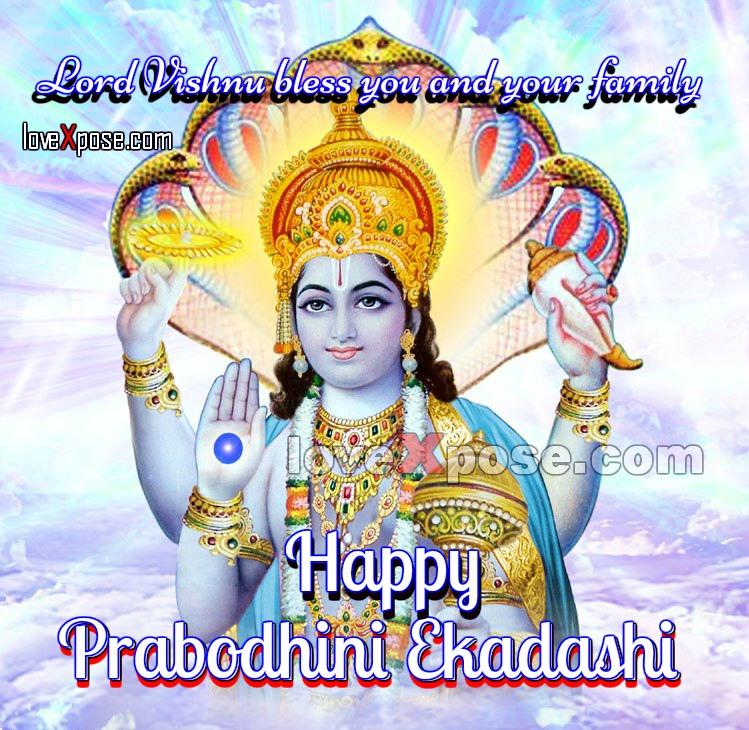 Prabodhini Ekadashi With Vishnu Bagwan