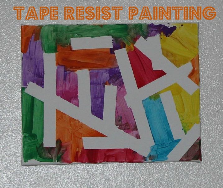 Tape Resist Art