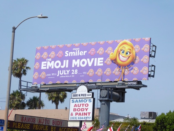 Emoji Movie Smiler billboard