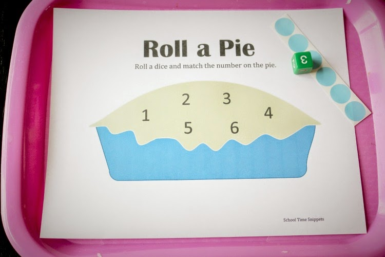 blueberry pie roll and cover preschool game