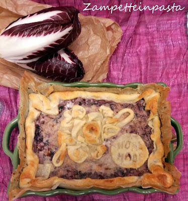 Torta salata con radicchio rosso
