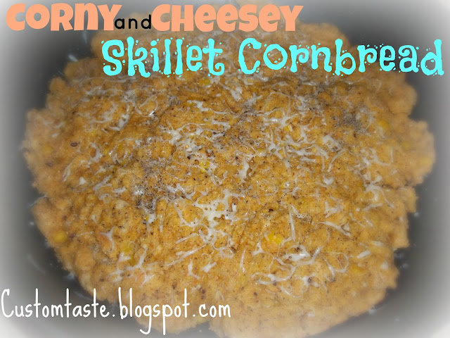 Corny and Cheesey Skillet Cornbread by Custom Taste