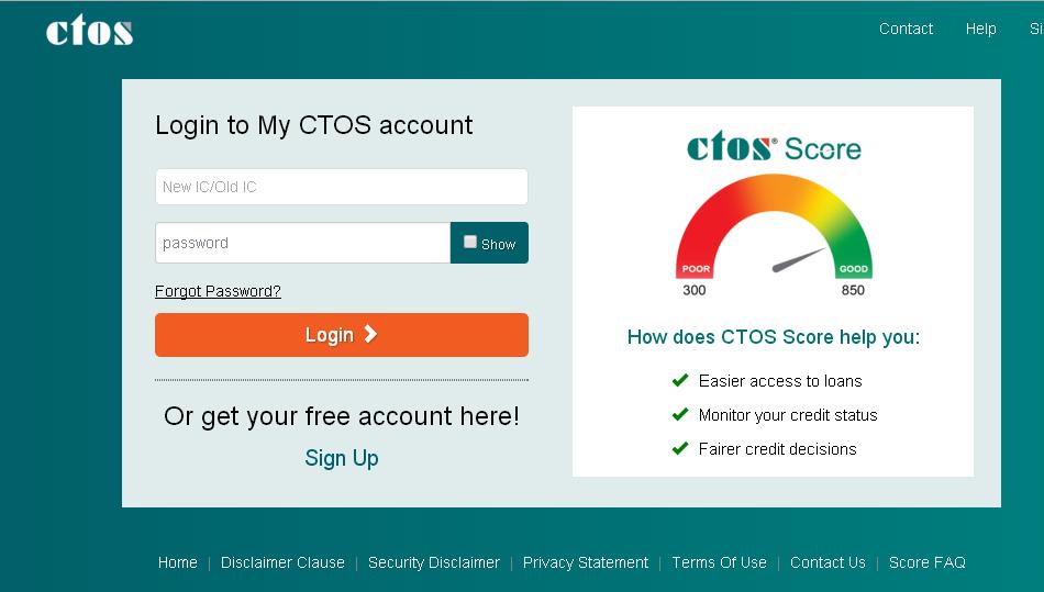 semak baki pembiayaan / pinjaman di ctos secara online, ctos simple register, cara mudah