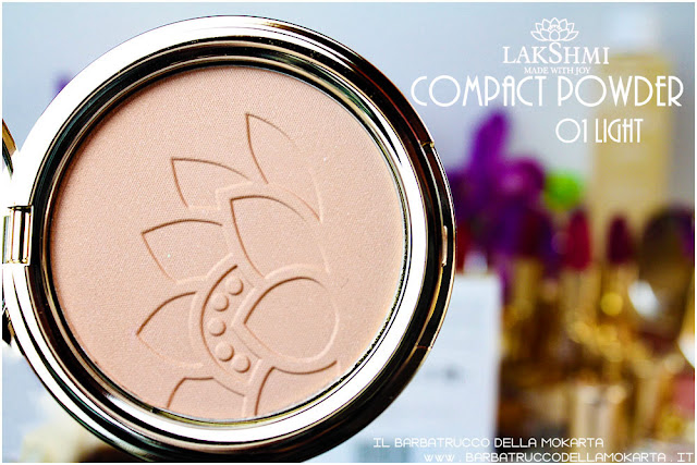 cipria compatta review compact powder  lakshmi makeup vegan ecobio