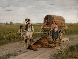 Les nomades de Transylvanie. Libre de droit