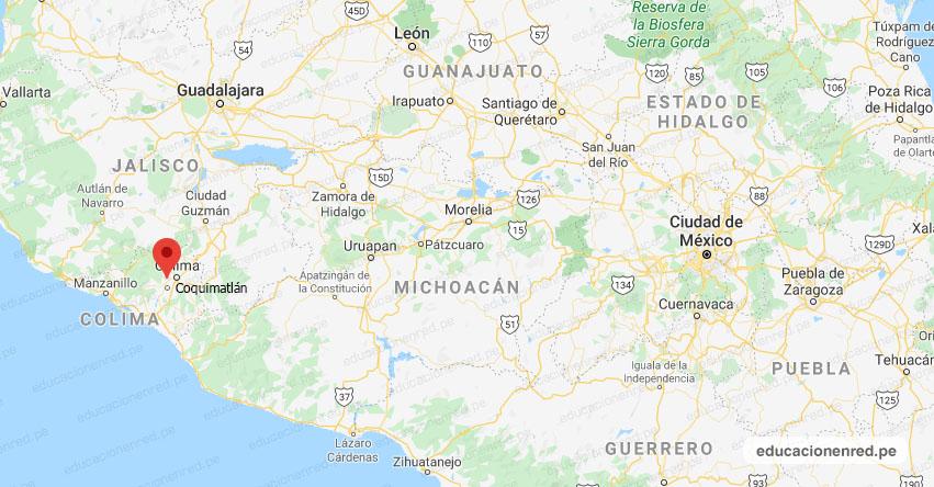 Temblor en México de Magnitud 4.1 (Hoy Viernes 29 Mayo 2020) Sismo - Epicentro - Coquimatlán - Colima - COL. - SSN - www.ssn.unam.mx