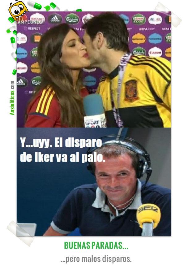 Chiste de la Eurocopa Beso de Iker Casillas y Sara Carbonero