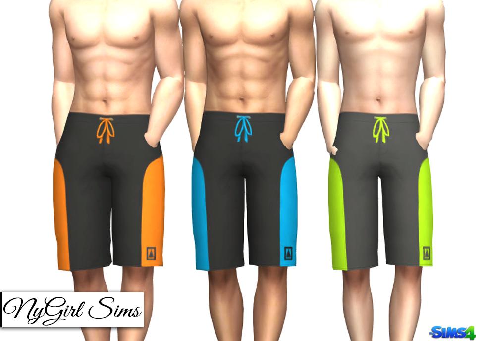 Nygirl sims 4 men 39 s swim trunk three pack for Pack swimming