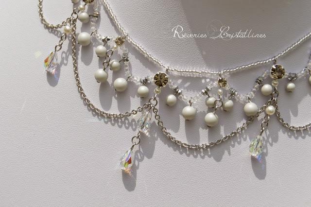 bijou mariée baroque en cristal et perles