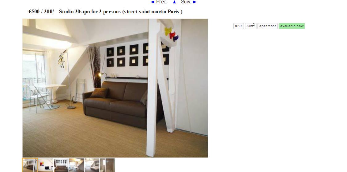 Craigslist Paris Apartments
