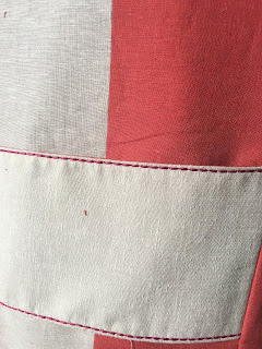 Hot Patterns Metropolitan Bouvier Jacket in Mood Fabrics' Stripe Linen - decorative stitch from Creative Icon