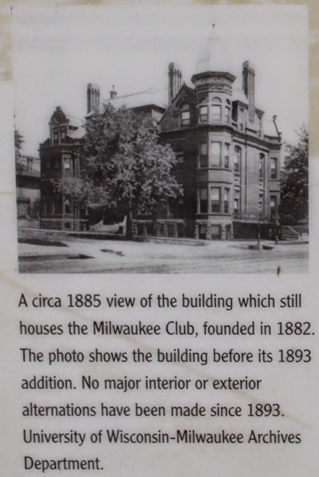 Wisconsin Historical Markers Historic Milwaukee East