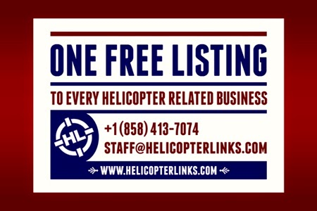 One free listing to every helicopter related company, supplier or service.