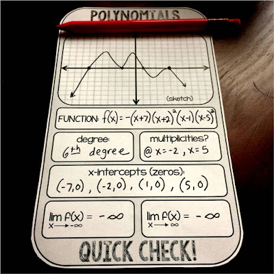 sketching polynomials quick check warm up template