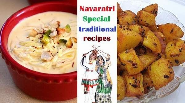 Traditional dishes for navratri