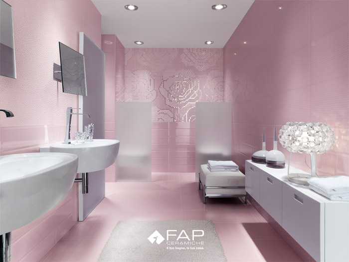 ba os en color rosa ideas para decorar dise ar y mejorar tu casa. Black Bedroom Furniture Sets. Home Design Ideas