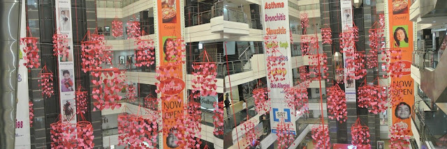 Noida Diary: Valentines Decoration at Wave Mall, Noida