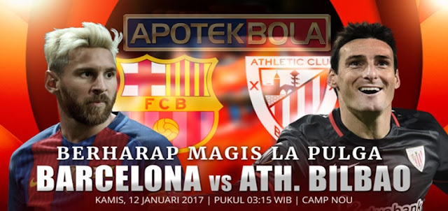 Prediksi Pertandingan Barcelona vs Athletic Bilbao 12 Januari 2017